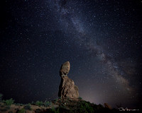 Balanced Rock and Milky Way, Arches National Park