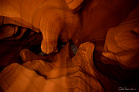 Upper Antelope Canyon at night, Navajo Nation, Arizona